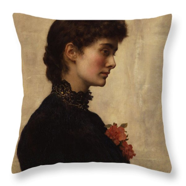 Marion Collier Throw Pillow by John Collier