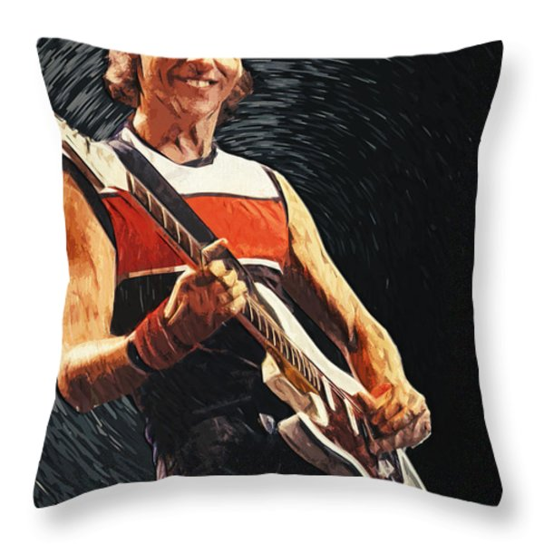 Mark Knopfler Throw Pillow by Taylan Soyturk