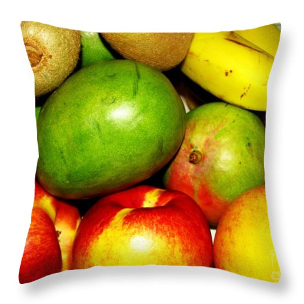 Market Day 2 Throw Pillow by Margaret Newcomb