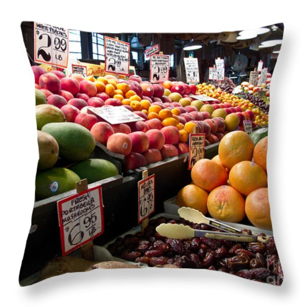 Market Fresh Throw Pillow by Arlene Carmel