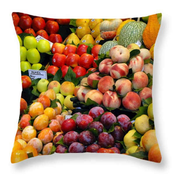 Market Time II Throw Pillow by Sue Melvin