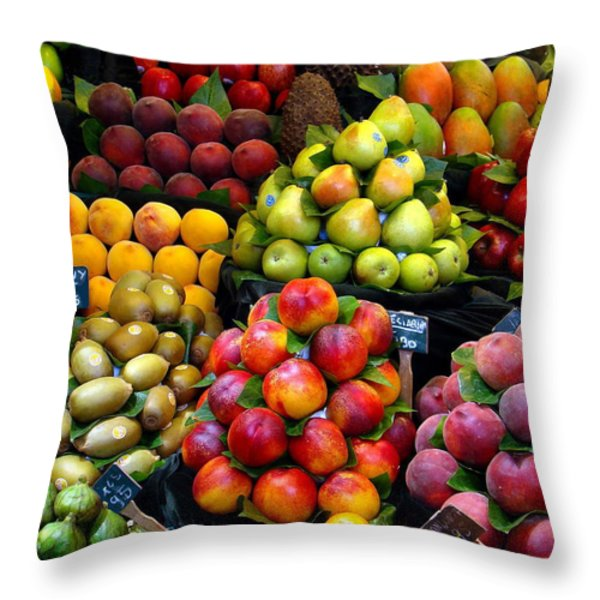 Market Time Throw Pillow by Sue Melvin