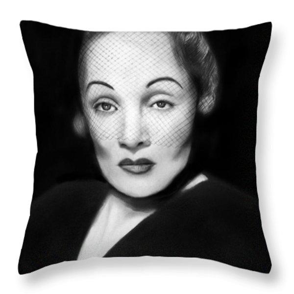 Marlene Dietrich Throw Pillow by Peter Piatt