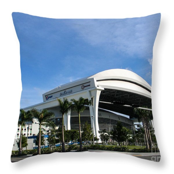 Marlins Park Stadium Miami 16 Throw Pillow by Rene Triay Photography