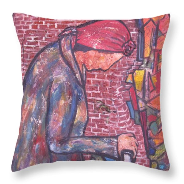 Marlyna Throw Pillow by Chaline Ouellet