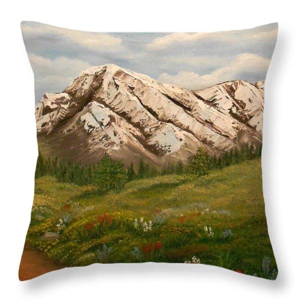 Maroon Trail Splendor Throw Pillow by Sheri Keith