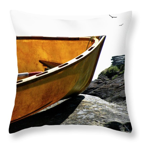 Marooned Throw Pillow by Micki Findlay