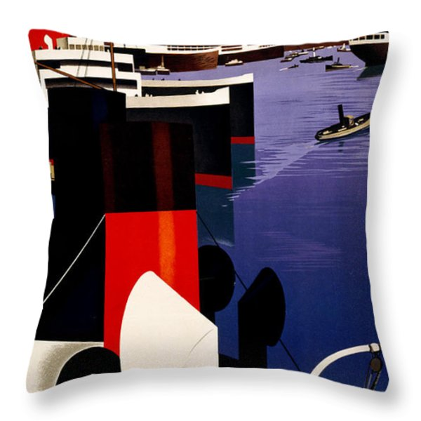 Marseille France Throw Pillow by Nomad Art And  Design