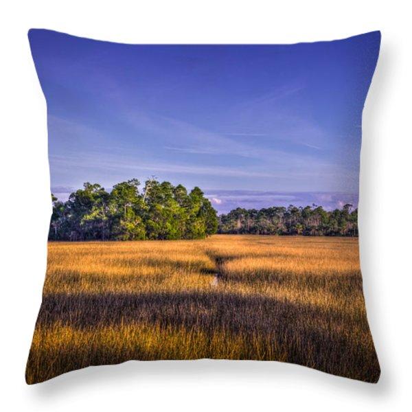 Marsh Hammock Throw Pillow by Marvin Spates