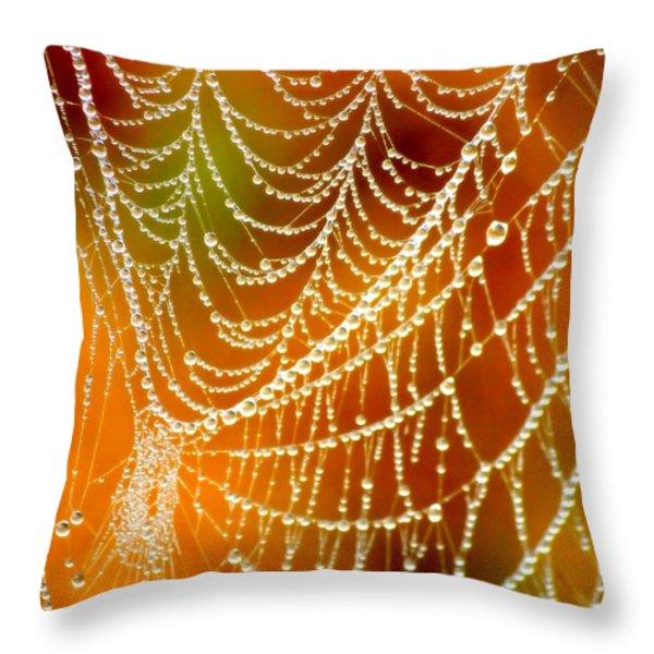 Marsh Pearls Throw Pillow by Carol Groenen