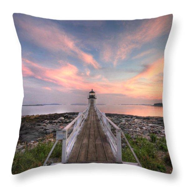 Marshall Point Sunset Throw Pillow by Lori Deiter
