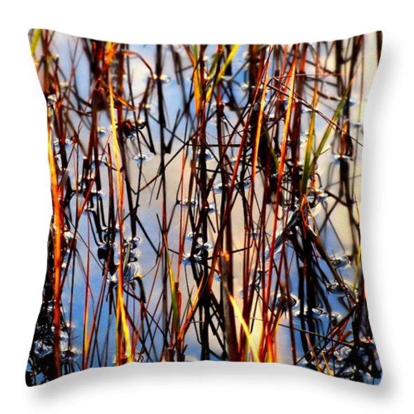 MARSHGRASS Throw Pillow by KAREN WILES