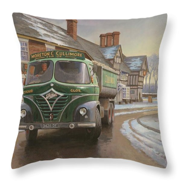 Martin C. Cullimore Tipper. Throw Pillow by Mike  Jeffries