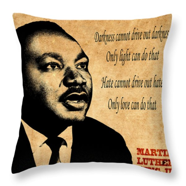 Martin Luther King Jr 1 Throw Pillow by Andrew Fare