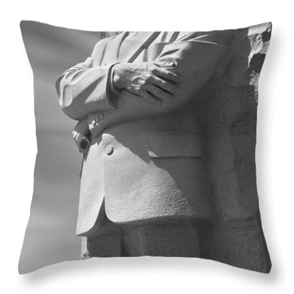 Martin Luther King Jr. Memorial - Washington D.C. Throw Pillow by Mike McGlothlen