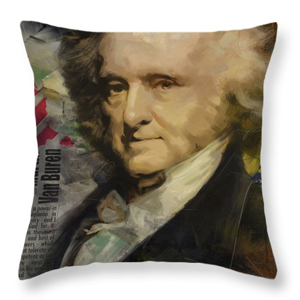 Martin Van Buren Throw Pillow by Corporate Art Task Force