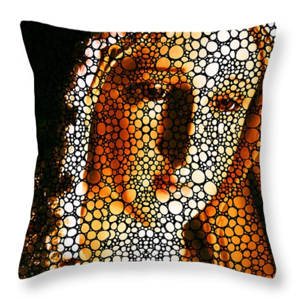 Mary - Holy Mother By Sharon Cummings Throw Pillow by Sharon Cummings