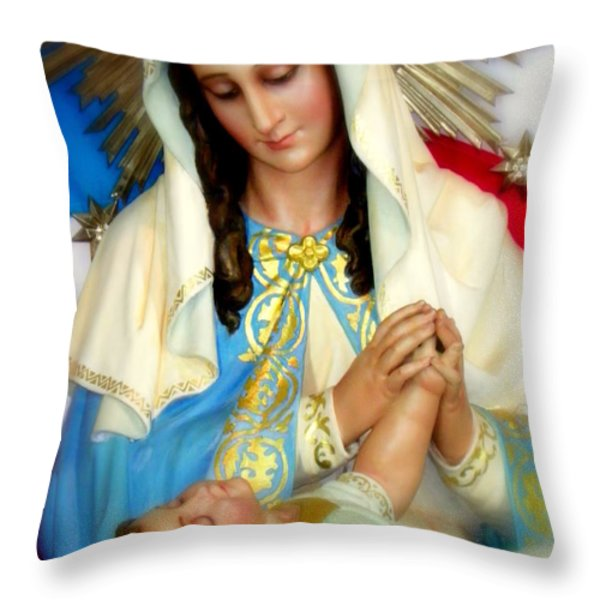 MARY Throw Pillow by KAREN WILES