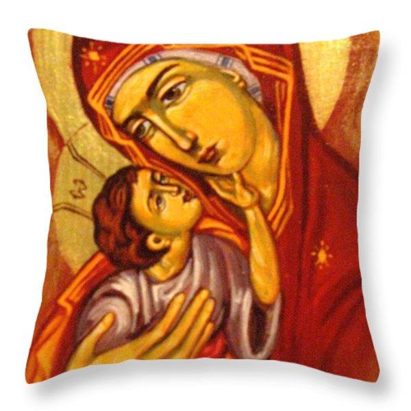 Mary Throw Pillow by Sonya Grigorova