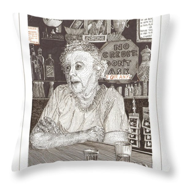 Marys Bar Cerrillos New Mexico Throw Pillow by Jack Pumphrey