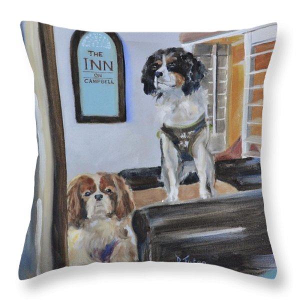 Mascots of The Inn Throw Pillow by Donna Tuten