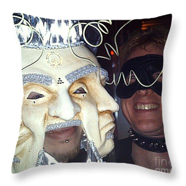 Masquerade Masked Frivolity Throw Pillow by Feile Case