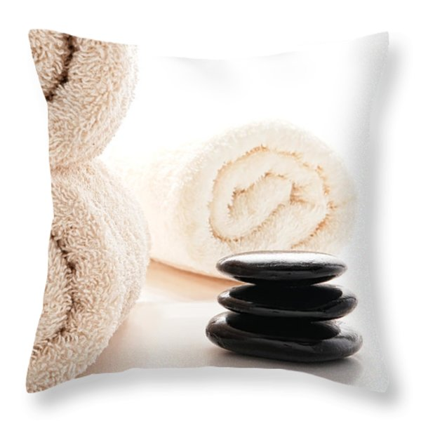 Massage Ready Throw Pillow by Olivier Le Queinec