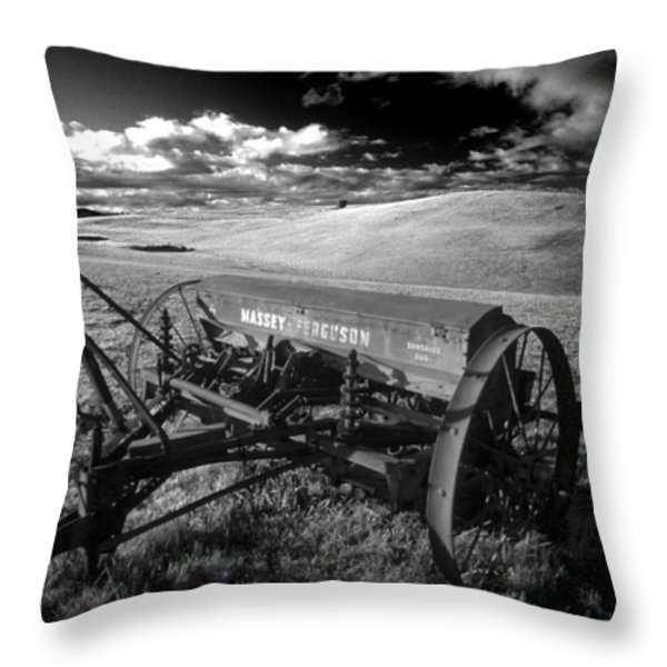 Massey Fergusen Throw Pillow by Sean Davey