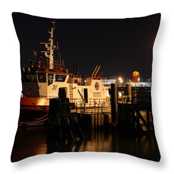Massport Fire Rescue 31 Throw Pillow by Juergen Roth
