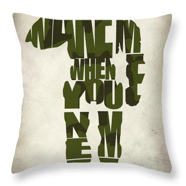 Master Chief Throw Pillow by Ayse Deniz