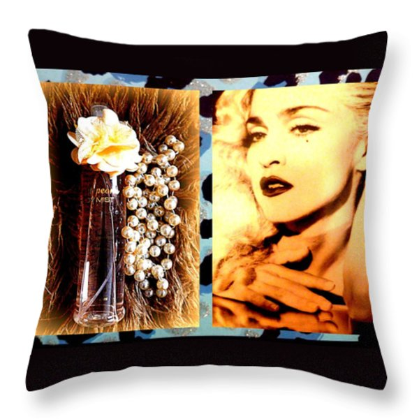 Material Girl Throw Pillow by The Creative Minds Art and Photography