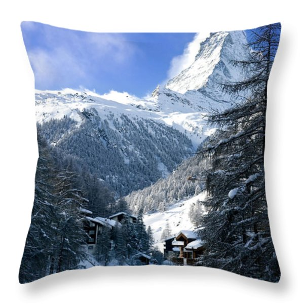 Matterhorn  Throw Pillow by Brian Jannsen