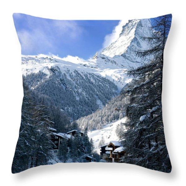 Matterhorn  Throw Pillow by Brian Jannsen