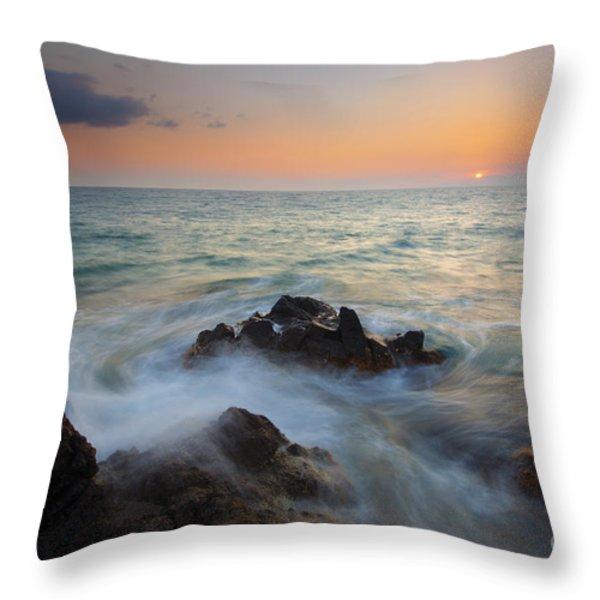 Maui Tidal Swirl Throw Pillow by Mike  Dawson