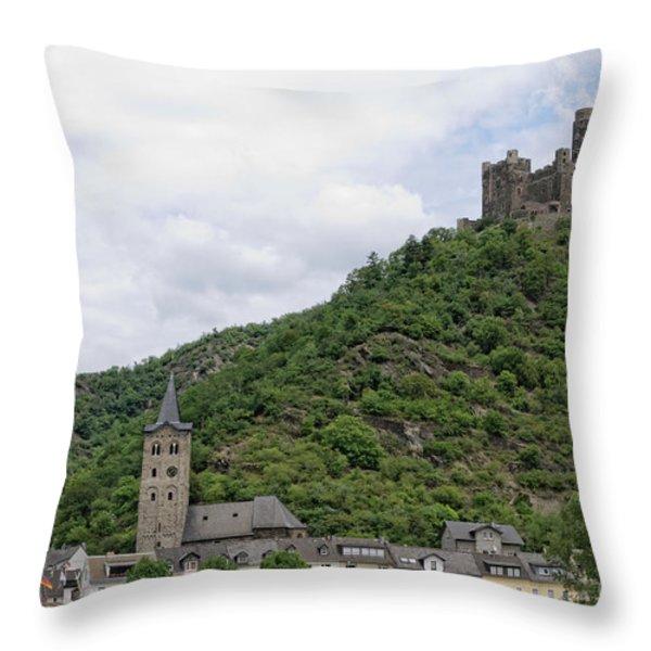 Maus Castle In Germany Throw Pillow by Oscar Gutierrez