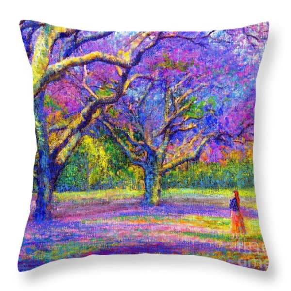 Mauve Majesty Throw Pillow by Jane Small