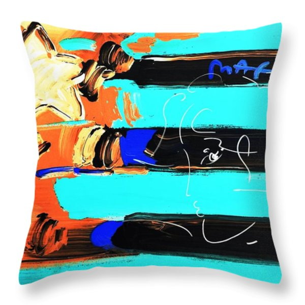 Max Stars And Stripes In Inverted Colors Throw Pillow by Rob Hans