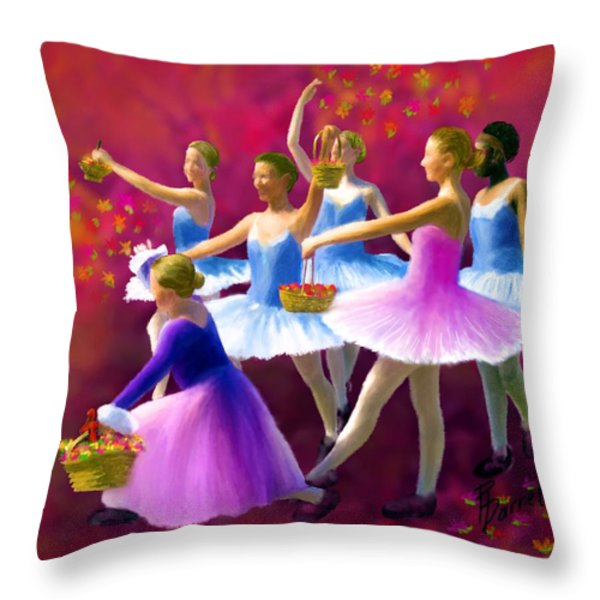 May Dancers Throw Pillow by Ric Darrell