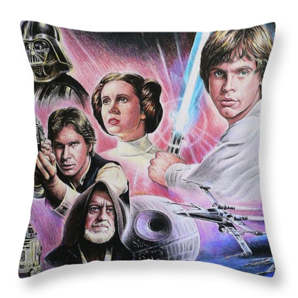 May The Force Be With You Throw Pillow by Andrew Read