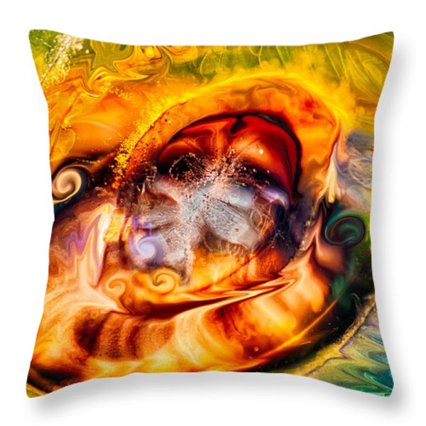 Mayan God Throw Pillow by Omaste Witkowski