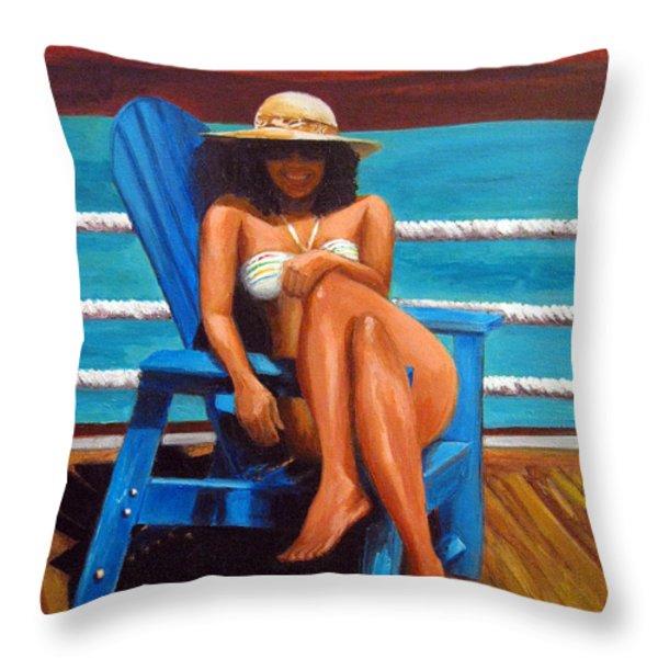 Mayi Caribe Throw Pillow by Patricia Awapara