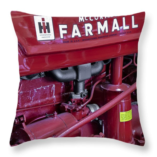 Mc Cormick Farmall Super C Throw Pillow by Susan Candelario