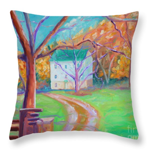 Mc Donalds Mill Throw Pillow by Todd Bandy