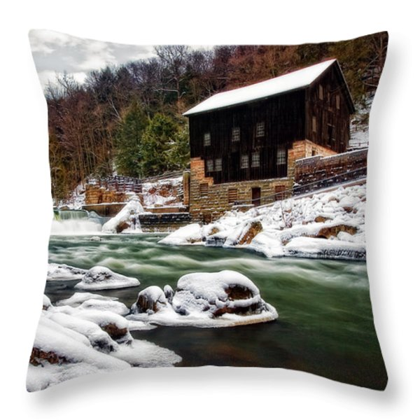 Mcconnell's Mill Throw Pillow by Marcia Colelli