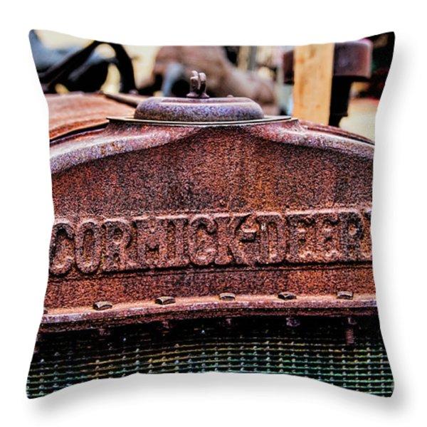 Mccormic Deering Throw Pillow by Jon Burch Photography