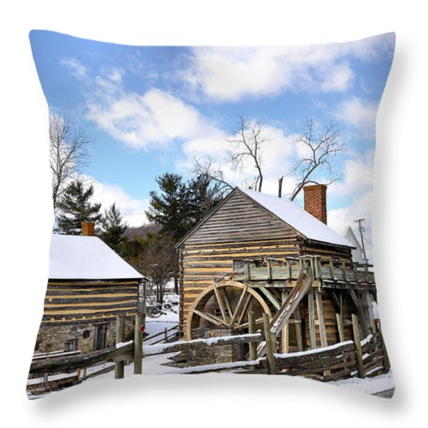 Mccormick Farm 3 Throw Pillow by Todd Hostetter