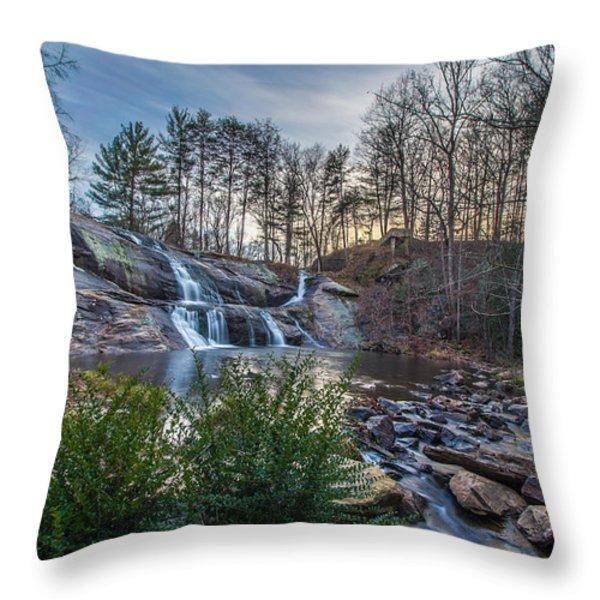 McGalliard Falls Wide View Throw Pillow by Randy Scherkenbach