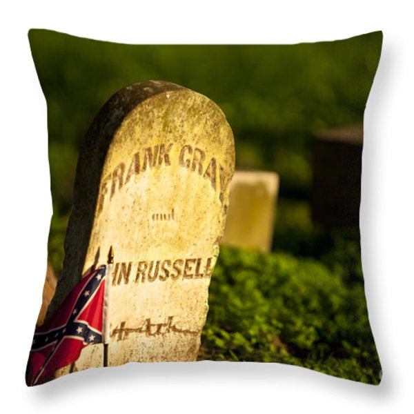 Mcgavock Confederate Cemetery Throw Pillow by Brian Jannsen