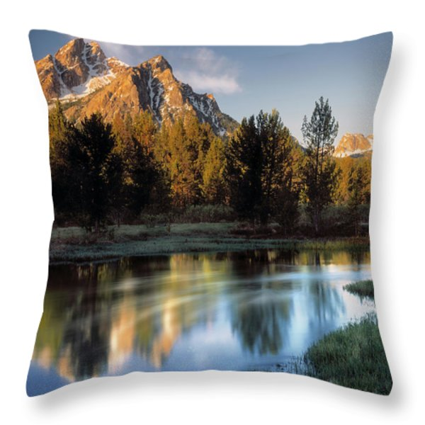 Mcgown Peak Throw Pillow by Leland D Howard
