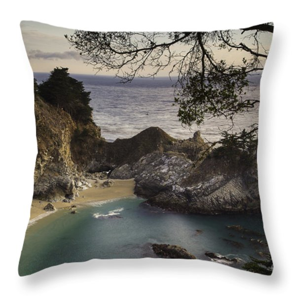 Mcway Falls Throw Pillow by Michele Steffey